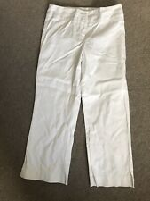 Oasis White 3/4 trousers  size 10