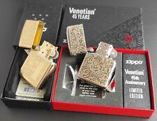 Zippo 2er Set: 45th VENETIAN  Limited Edition  +  VENETIAN Messing/Brass