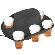 Cappello cowboy festa della Birra con 6 fori portabicchiere *02910