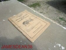 Original Mccormick Deering 10 20 Tractor Owners Manual Instruction Book Ihc