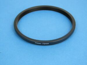 77mm to 72mm Stepping Step Down Ring Camera Lens Filter Adapter Ring 77-72mm