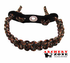 Hidden Camo / LOST CAMO Bow paracord wrist sling w/ Leather yoke Archery