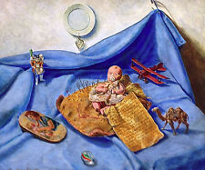 """""""Birth of Success"""" Original Trompe L'Oeil Oil Painting on Panel by Drew Strouble"""