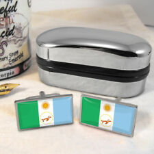 Chaco Flag Mens Gift Cufflinks Argentina