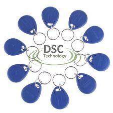 10 Pcs Blue 125kHz RFID Proximity ID Token Tag Key Keyfobs Chain Plastic