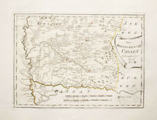 1789 Ungarn Hungary Rumänien Romania Siebenbürgen Transylvania Kolorierte Kupfer
