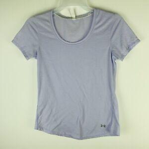 Under Armour UA Women's Medium Shirt Semi Fitted Heat Gear Purple Threadborne