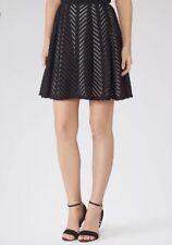 Reiss Black Graphic Anra Skirt, Reiss Mini Skirt, Size 8 UK, Reiss Black Skirt