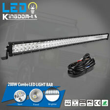 50inch 288W LED Light Bars Flood Spot Combo Roof Driving Truck Boat SUV 4WD 52''