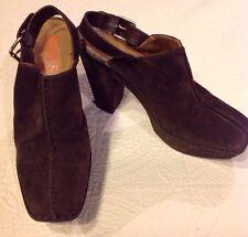 Kors by Michael Kors Quincy Brown Suede Clog 9.5 Platform Heels