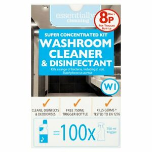 Super Concentrated Kit Washroom Cleaner & Disinfectant Kits 1L = 100 x 750ml