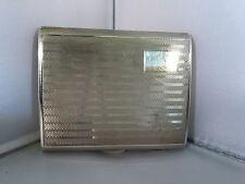 solid silver cigarette case 1933
