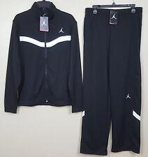 NIKE AIR JORDAN XI DRI FIT WARM UP SUIT JACKET + PANTS BLACK WHITE NWT (SIZE XL)