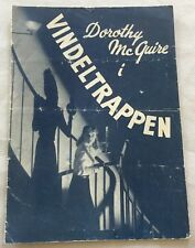 The Spiral Staircase Dorothy McGuire George Brent Vtg 1946 Danish Movie Program