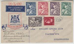 KLM 1946 official illustrated FFC AMSTERDAM NETHERLANDS-JOHANNESBURG S. AFRICA
