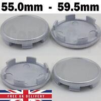 Alloy wheel center caps universal rim plastic 4 x centre hubcap 59-55 mm no logo