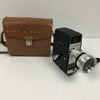 Vintage BELL & HOWELL Electric Eye 8mm Movie Camera with Leather Case