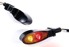 LED Mini Feu Arrière Feux de stop clignotant Noir pour harley-davidson moto