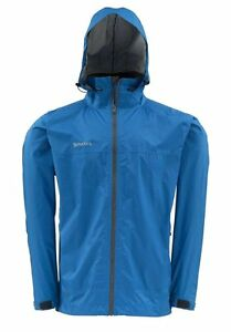 Simms Hyalite Rain Shell - Tidal Blue- LARGE -  New - Free US Shipping