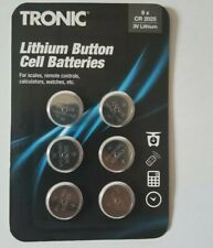 TRONIC 6X CR 2025 3V LITHIUM BATTERIES.MADE IN GERMANY