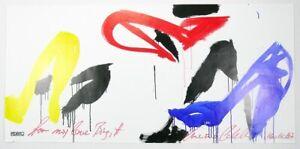 Luciano Castelli - Schuhe - Lithografie - handsigniert, datiert und gewidmet