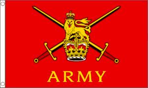 "BRITISH ARMY FLAG - UNITED KINGDOM MILITARY FLAGS Size 3x2, 5x3, 8x5 Ft 18""X12"""