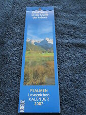 Lesezeichen Kalender Bookmarks Calendar Kreuz Psalmen 2007