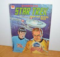 Vintage STAR TREK COLORING BOOK Whitman 1979 Used Sci-Fi Retro