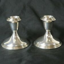Vintage Pair Empire Sterling Silver Weighted Candlestick Candle Holder #46 Set