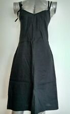 FRENCH CONNECTION casual Dress size 10 Black Knee Length 100%Linen --BRAND NEW--