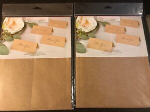 Gartner Studios 16704 Wedding Collection Printable Place Cards  ~ 2 Pack NEW