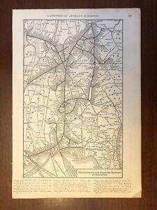 1917 Louisville & Nashville Railroad Map, Encyclopedic Atlas and Gazetteer