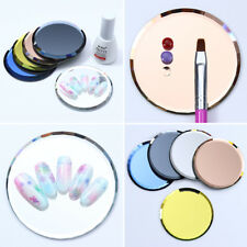Mirror Glass False Nail Tips Polish Display Board Color Palette Manicure Tool