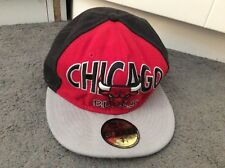 Chicago Bulls Snapback Baseball Cap In Red/Black,7 1/8 Logo