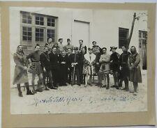 1900 FOTO GRUPPO TEATRALE IN COSTUME UFFICIALE ESERCITO GONDOLIERE DELLA MORTE