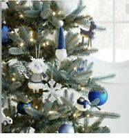 85pc Ornament Set Wondershop Birchwood Bay Target Xmas Holiday Blue/WhiteSilver