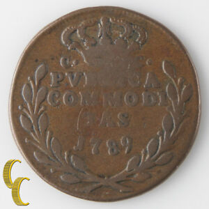 1789 P//CC Italian States, Naples & Sicily 3 Tornesi (Fine+) Ferdinand KM#206