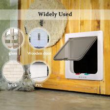 New listing 4 Way Safety Locking Pet Flap Cat Door For Interior Doors Exterior Doors