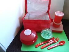 Tupperware Lot - Lunch Pack 10 Pieces Including Insulated Bag (not Tupperware)