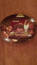 High Stakes, Franklin Mint Collector Plate by Brown & Bigelow