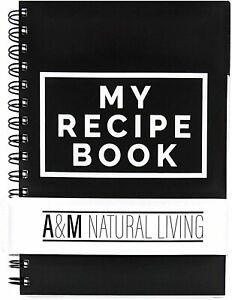 A&M Natural Living A5 Recipe Book for Own Recipes Cooking Diary Journal Notebook