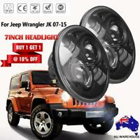 7 Inch 200W Round LED Headlight Hi-Low Beam For Jeep 97-2017 Wrangler JK LJ TJ