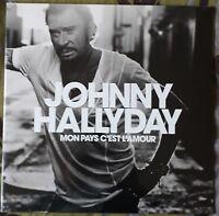 VINYLE  BLANC  LP - Johnny Hallyday - Mon Pays C'Est L'Amour - MINT  / SEALED