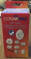 ConairPro Dual Voltage International Plug Adapters & Voltage Converter Set