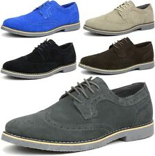 Alpine Swiss Beau Mens Dress Shoes Genuine Suede Wing Tip Brogue Lace Up Oxfords