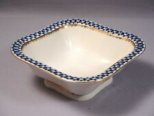 Vintage Lomonosov Russian Porcelain Cobalt Net Square Serving Bowl 22kt Gold