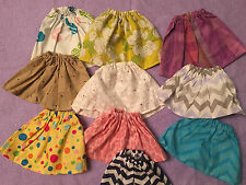 """Fits 15""""-16"""" Baby Alive Girl Doll CLothes Skirts Handmade Lot of 10pcs RANDOM"""