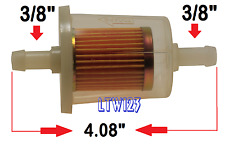 """(5) 3/8"""" Gas Filter High Performance Extra Long"""
