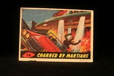 """Vintage 1962 Mars Attack Trading Card """"Charred By Martians"""" #14  G VG"""