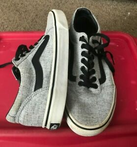 MENS VANS OFF THE WALL TENNIS SHOES GRAY SIZE 8.5 8 1/2